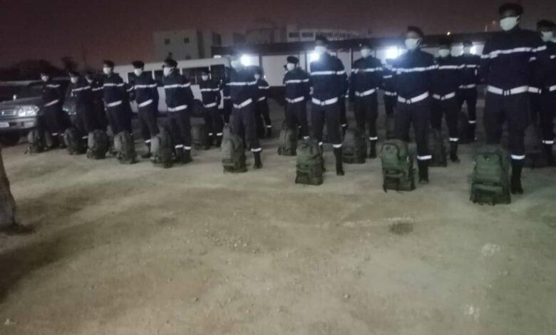 """صورة إستفادة 40 عنصرا تابعين للمندوبية العامة للأمن المدني  من تكوين في المملكة المغربية """""""