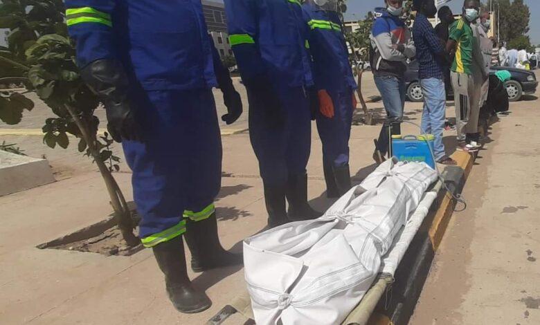 صورة العثور على جثة امرأة مختلة العقل في بركة للمياه في القطاع ١٤ من الرياض